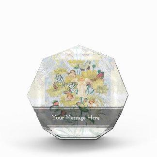 Cherubs, Butterflies and Flowers in Yellow Award