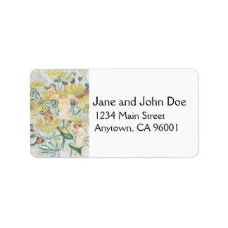 Cherubs, Butterflies and Flowers in Yellow Label