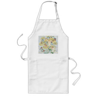 Cherubs, Butterflies and Flowers in Yellow Long Apron
