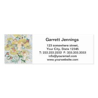 Cherubs, Butterflies and Flowers in Yellow Mini Business Card