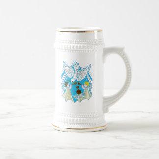 Cherubs Dove of Peace Coffee Mugs
