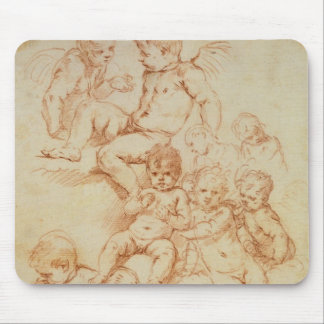 Cherubs, early 17th century (red chalk on paper) mouse pad