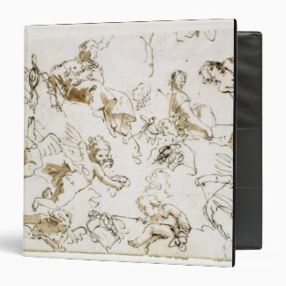 Cherubs, early 18th century (pen and ink and wash binder