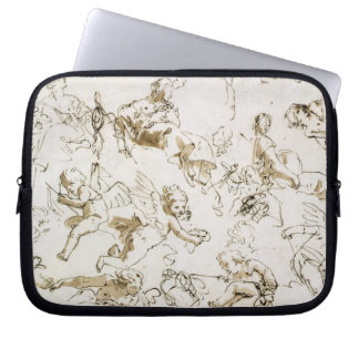 Cherubs, early 18th century (pen and ink and wash computer sleeve