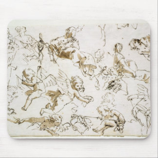 Cherubs, early 18th century (pen and ink and wash mouse pad