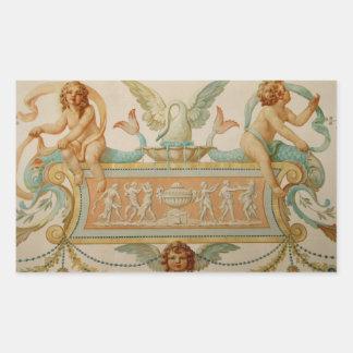Cherubs from The Golden Age Rectangular Sticker