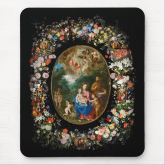 Cherubs Give Offerings to Christ Child Mousepad
