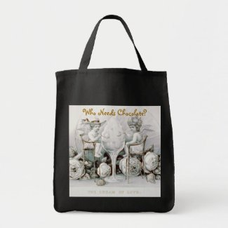 Cherubs & Ice Cream: Valentine - Grocery Tote #1 bag