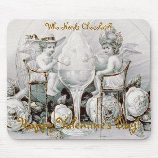 Cherubs & Ice Cream: Valentine - Mousepad mousepad