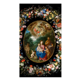 Cherubs Offer Gifts to Christ Child Business Card