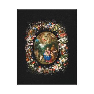 Cherubs Offer Gifts to Christ Child Canvas Print