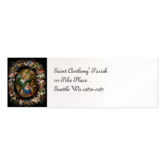Cherubs Offer Gifts to Christ Child Double-Sided Mini Business Cards (Pack Of 20)
