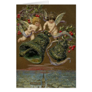 Cherubs Ringing in Christmas 1906 Greeting Card