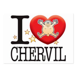 Chervil Love Man Large Business Card