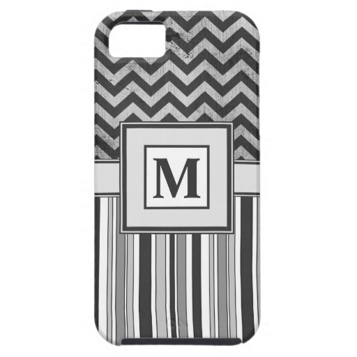 Chervron Zig Zags and Masculine Stripes in Greys iPhone 5 Covers