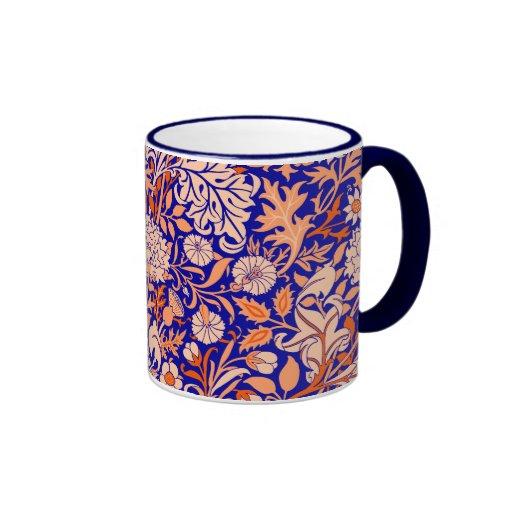 'Cherwell Blue'- William Morris Ringer Coffee Mug