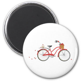 Chery Cherry Bicycle 2 Inch Round Magnet