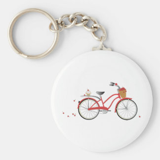 Chery Cherry Bicycle Basic Round Button Keychain