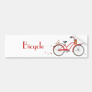 Chery Cherry Bicycle Car Bumper Sticker