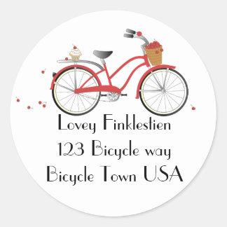 Chery Cherry Bicycle Round Stickers