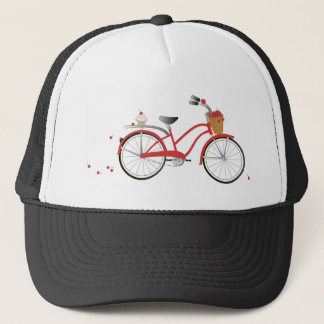 Chery Cherry Bicycle Trucker Hat