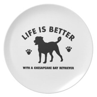 chesapeak Bay retrier dog design Plate