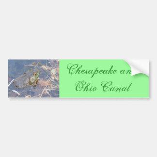 Chesapeak y canal de Ohio Pegatina De Parachoque