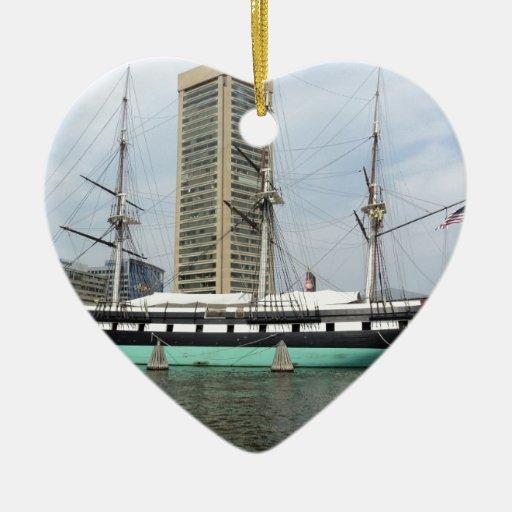 Chesapeake Adorno De Cerámica En Forma De Corazón