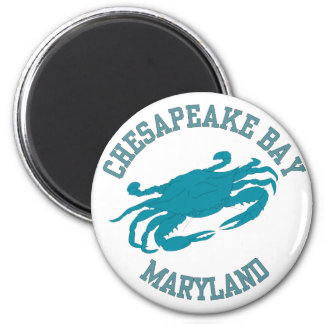 Chesapeake Bay  Blue Crab 2 Inch Round Magnet