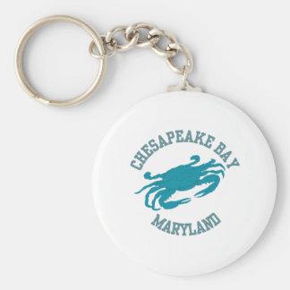 Chesapeake Bay  Blue Crab Basic Round Button Keychain