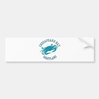 Chesapeake Bay  Blue Crab Car Bumper Sticker