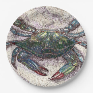 Chesapeake Bay Blue Crab Custom Paper Plates