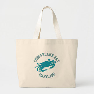 Chesapeake Bay  Blue Crab Large Tote Bag