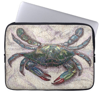 Chesapeake Bay Blue Crab Neoprene Laptop Sleeve