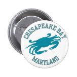 Chesapeake Bay  Blue Crab Pinback Buttons