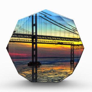 Chesapeake Bay Bridge Icy Sunset Silhouette Award