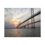 Chesapeake Bay Bridge Sunset canvas Canvas Prints