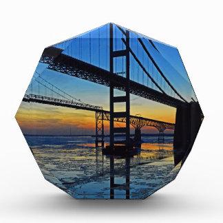 Chesapeake Bay Bridge Sunset Over Icy Waters Award