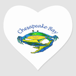 CHESAPEAKE BAY CRAB HEART STICKER