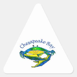 CHESAPEAKE BAY CRAB TRIANGLE STICKER