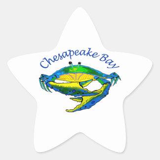 CHESAPEAKE BAY CRAB STAR STICKER