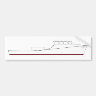 Chesapeake Bay deadrise boat (full cabin) Bumper Sticker