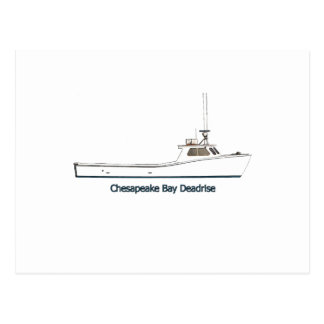 Chesapeake Bay Deadrise Boat (titled) Postcard