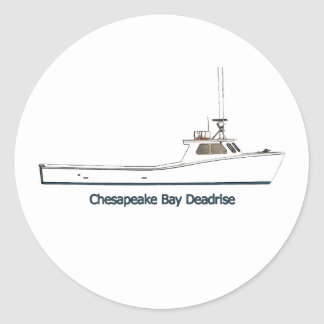 Chesapeake Bay Deadrise Boat (titled) Stickers