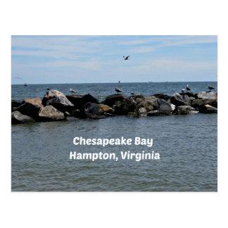 Chesapeake Bay, Hampton,Virginia Postcard