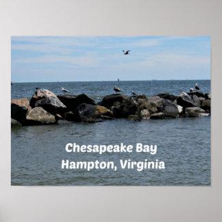 Chesapeake Bay, Hampton,Virginia Poster