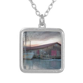 Chesapeake Bay Maritime Museum Square Pendant Necklace