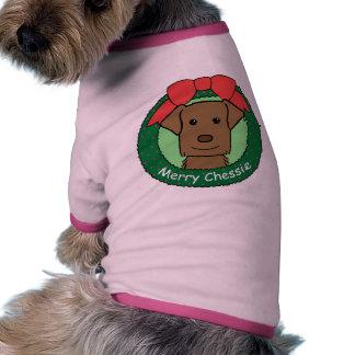 Chesapeake Bay Retriever Christmas Pet T Shirt