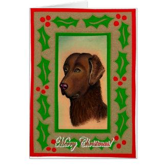 Chesapeake Bay Retriever Dog Blank Christmas Card