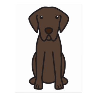 Chesapeake Bay Retriever Dog Cartoon Postcard